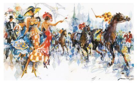Orginal Artwork by Misha Lenn Commissioned Artist of the Official Kentucky Derby